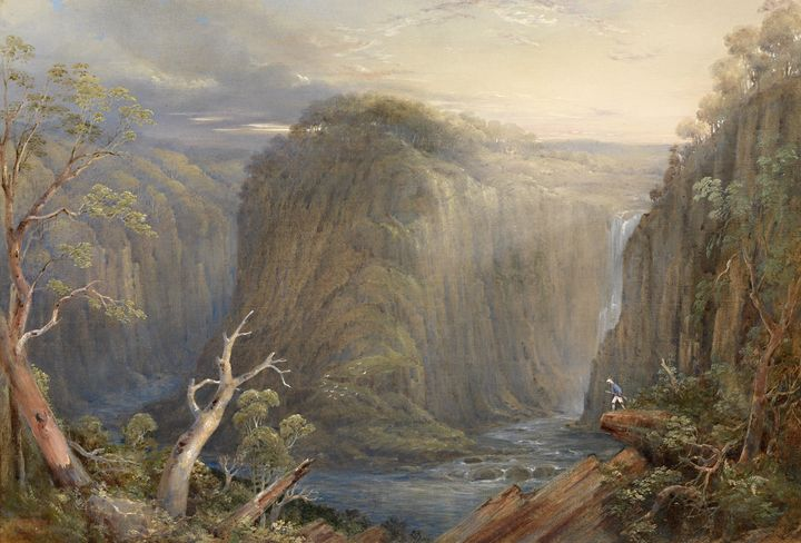 Conrad Martens~One of the falls on t - Old master