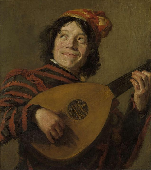 Frans Hals~The Lute Player - Old master