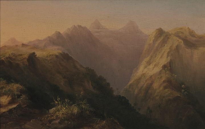 Conrad Martens~Orofena, Tahiti - Old master