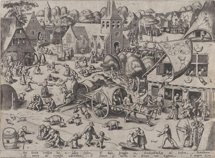 Frans Hogenberg~The Kermis at Hoboke - Old master