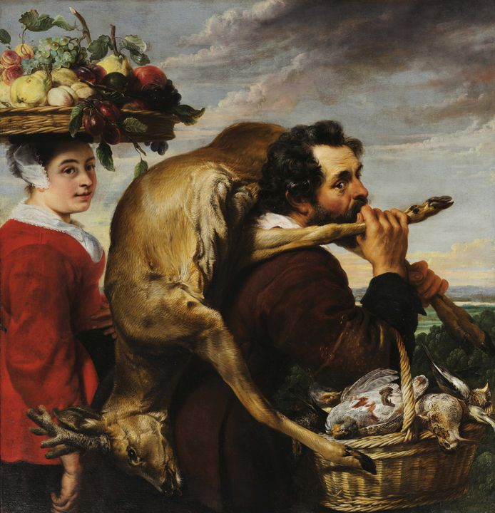 Frans Snyders~Figures with Fruit and - Old master