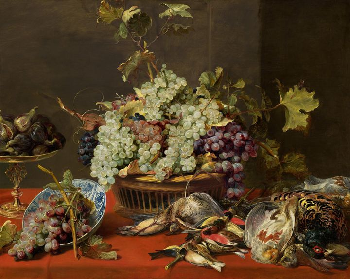 Frans Snyders~Still Life with Grapes - Old master