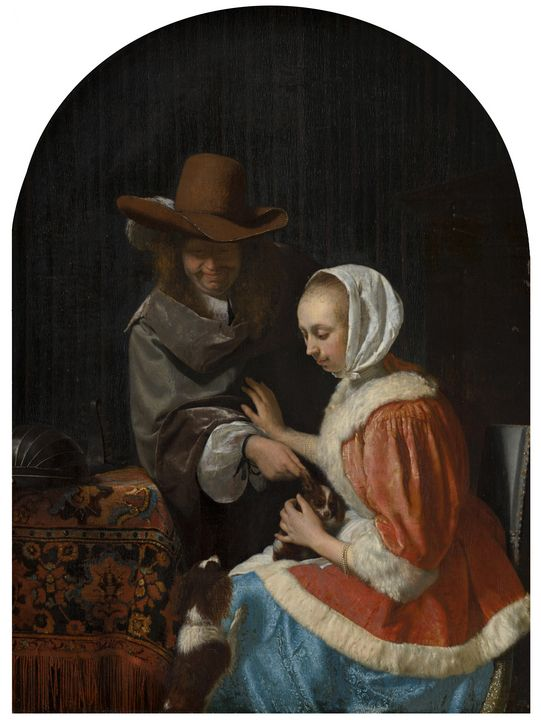 Frans van Mieris the Elder~Man and W - Old master