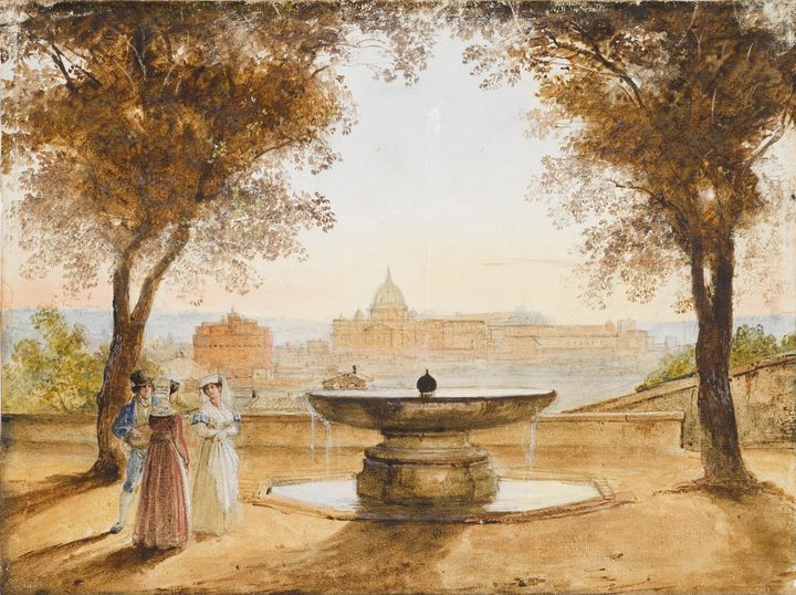 Franz Ludwig Catel~View of Rome from - Old master