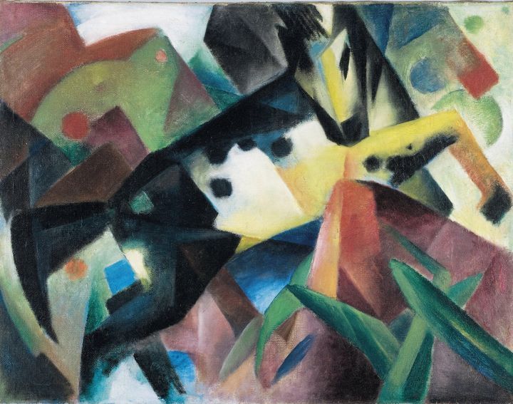 Franz Marc~Jumping Horse - Old master