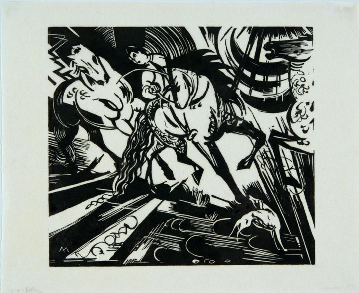 Franz Marc~Riding School after Ridin - Old master