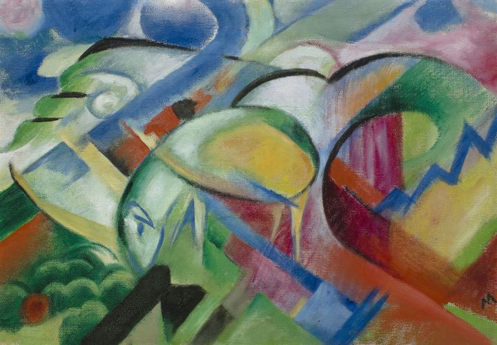 Franz Marc~The Sheep - Old master