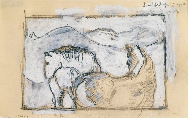 Franz Marc~Two Horses - Old master