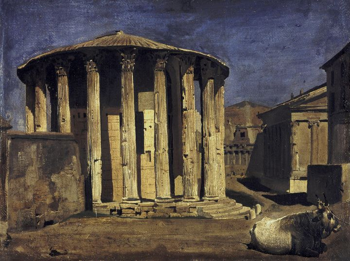 Franz von Lenbach~Temple of Vesta in - Old master