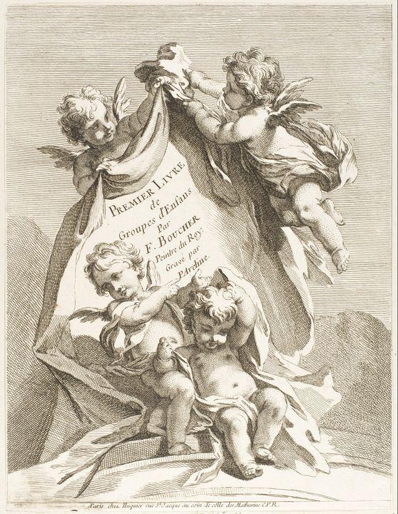 François Boucher, Gabriel Huquier, P - Old master