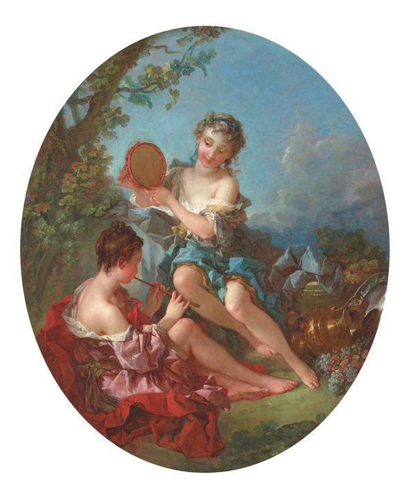 François Boucher~Bacchantes - Old master