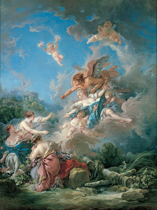 François Boucher~Boreas Abducting Or - Old master
