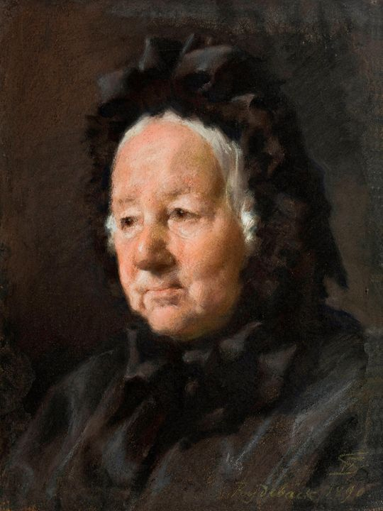 Frans Schwartz~Portait of Pastor Tid - Old master
