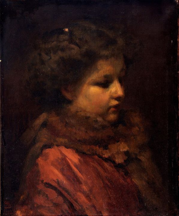 Frans Schwartz~Study Head of a Young - Old master