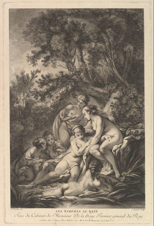François Boucher~Les Nimphes au Bain - Old master