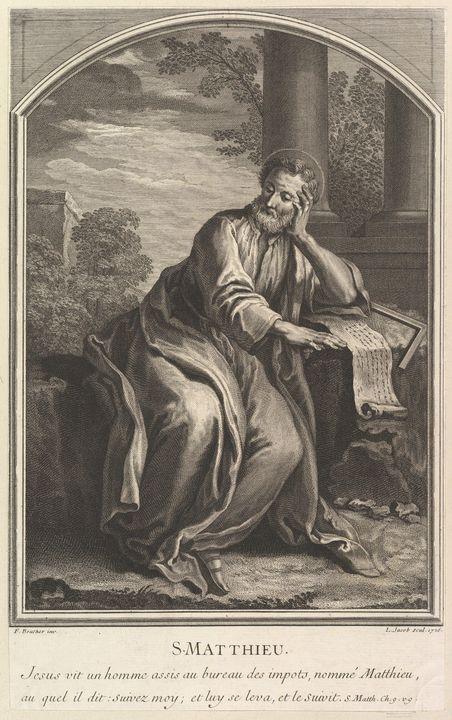 François Boucher~Saint Mathew - Old master