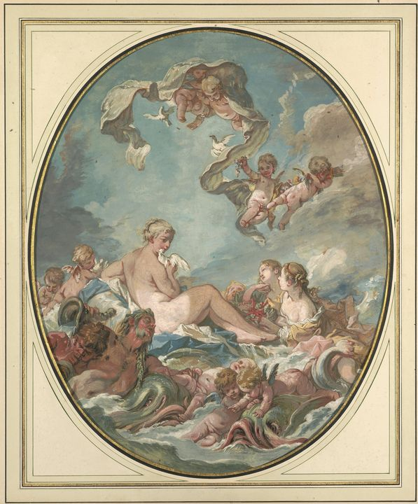 François Boucher~The Birth and Trium - Old master