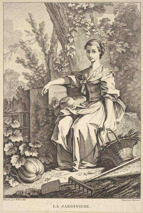 François Boucher~The Gardener - Old master