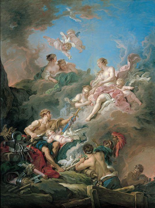François Boucher~Venus at Vulcan's F - Old master