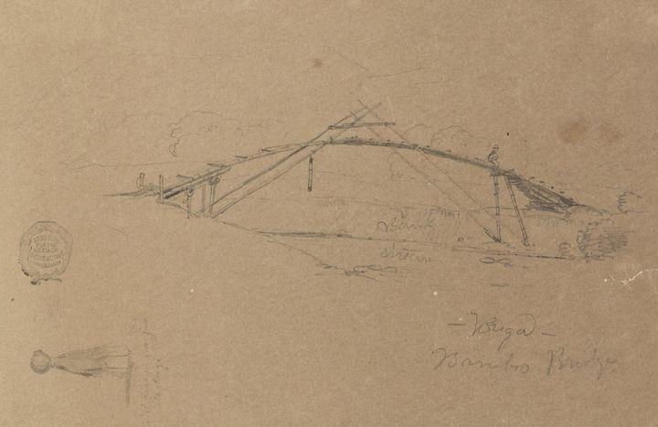 Frederic Edwin Church~Bamboo Bridge - Old master