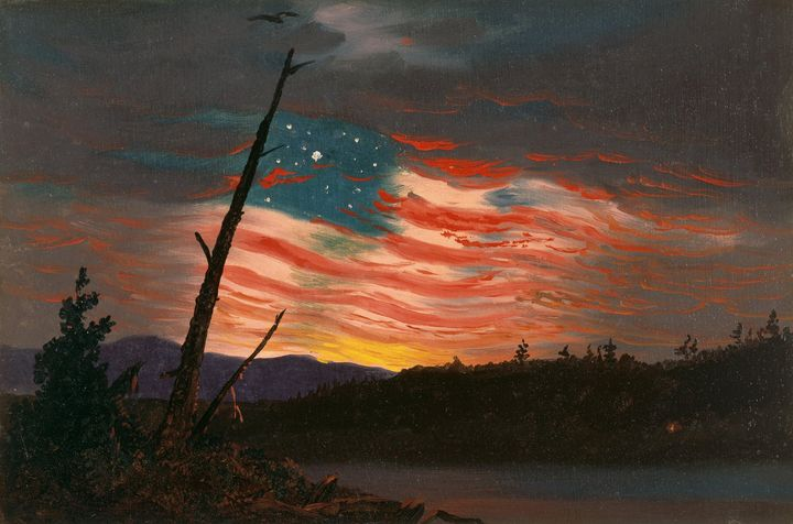 Frederic Edwin Church~Our Banner in - Old master