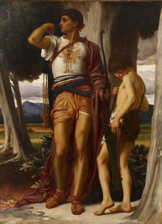 Frederic Leighton~Jonathan's Token t - Old master