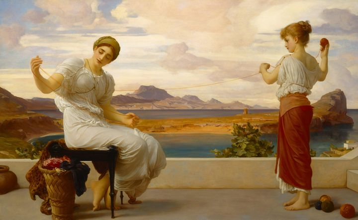 Frederic Leighton~Winding the skein - Old master