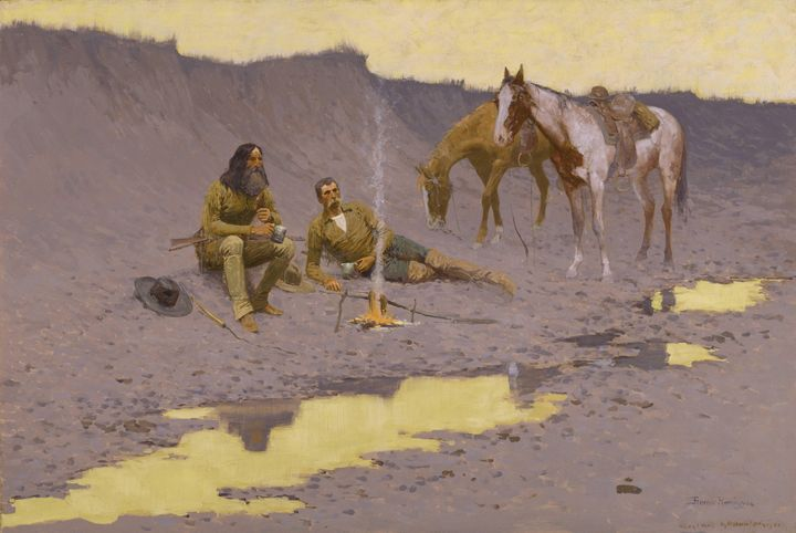 Frederic Remington~A New Year on the - Old master
