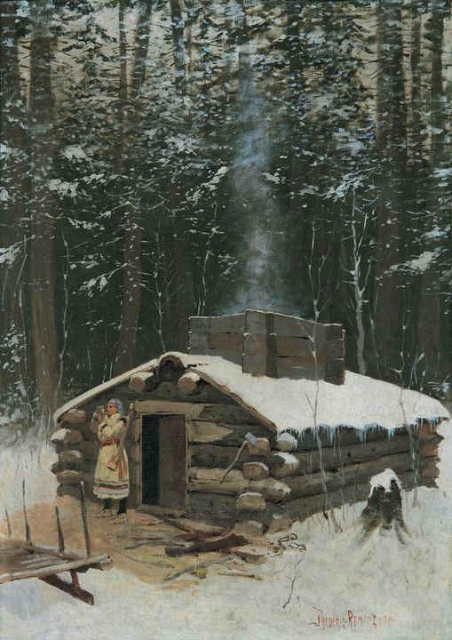 Frederic Remington~Antoines Cabin - Old master
