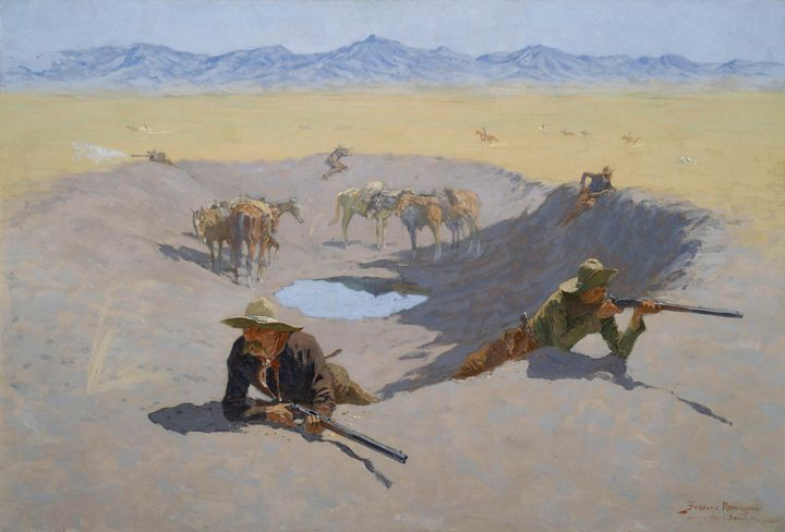 Frederic Remington~Fight for the Wat - Old master