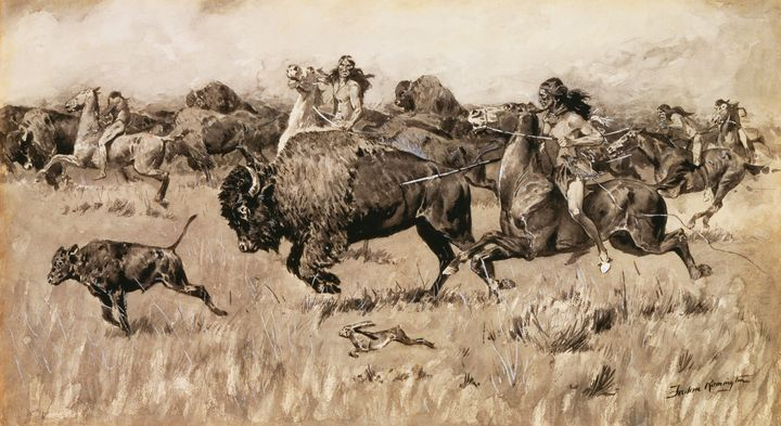 Frederic Remington~Her Calf - Old master