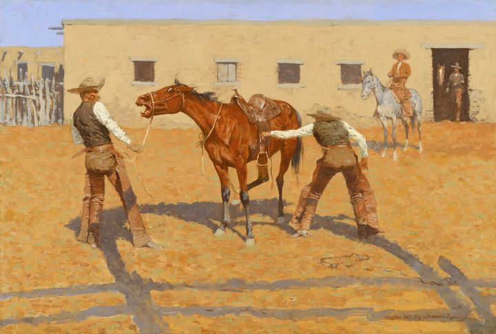 Frederic Remington~His First Lesson - Old master
