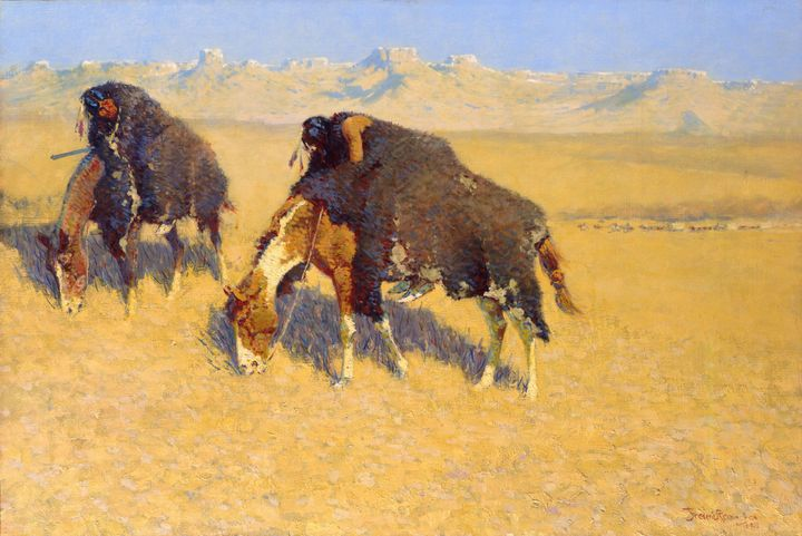 Frederic Remington~Indians Simulatin - Old master
