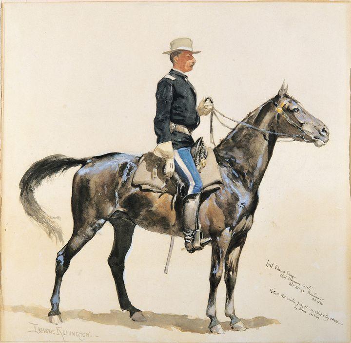 Frederic Remington~Lieutenant Casey - Old master