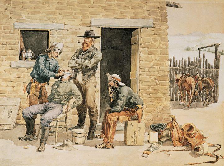 Frederic Remington~Sunday Morning To - Old master