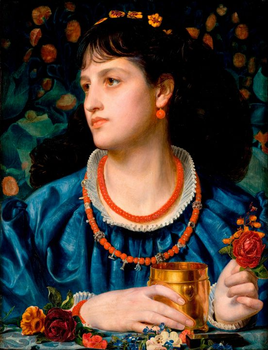 Frederick Sandys~Ysoude with the Lov - Old master