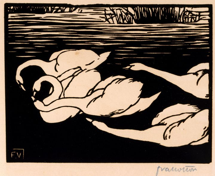 Félix Emile-Jean Vallotton~The Swans - Old master