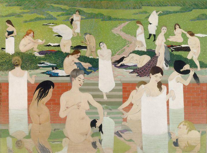 Félix Vallotton~The Bath. Summer Eve - Old master