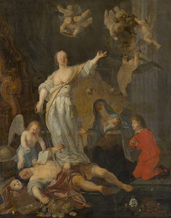 Gabriël Metsu~The Triumph of Justice - Old master