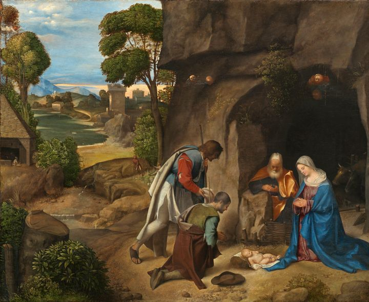 Giorgione~The Adoration of the Sheph - Old master