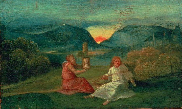 Giorgione~The Hour Glass - Old master