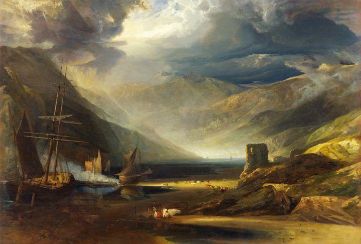 Copley Fielding~A Scene on the Coast - Old master