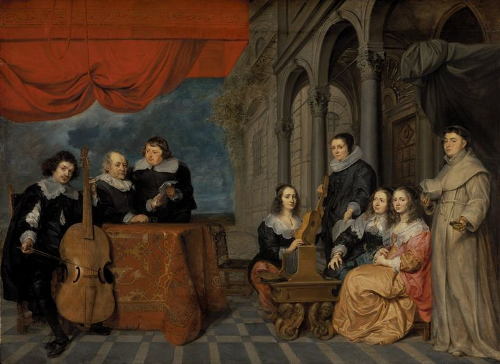 Gonzales Coques~Portrait of a family - Old master