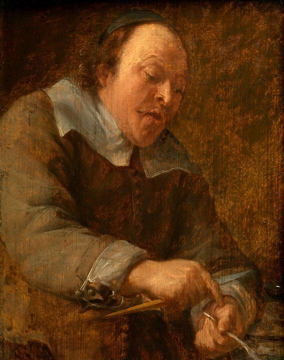 Gonzales Coques~The Five Senses touc - Old master