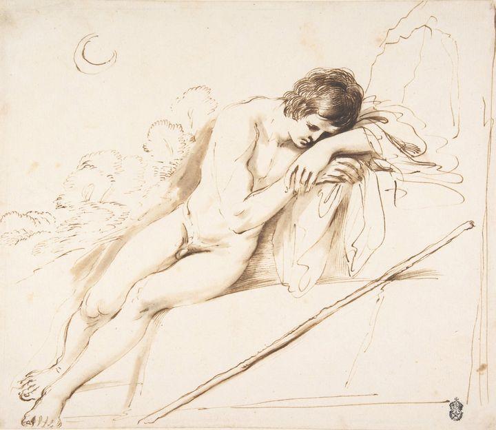 Guercino, Francesco Barbieri~Endymio - Old master