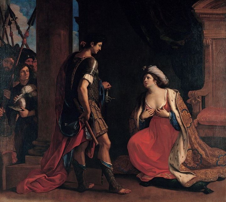Guercino~Cleopatra and Octavian - Old master