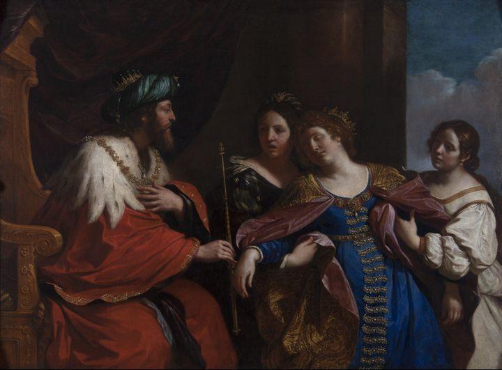Guercino~Esther before Ahasuerus - Old master