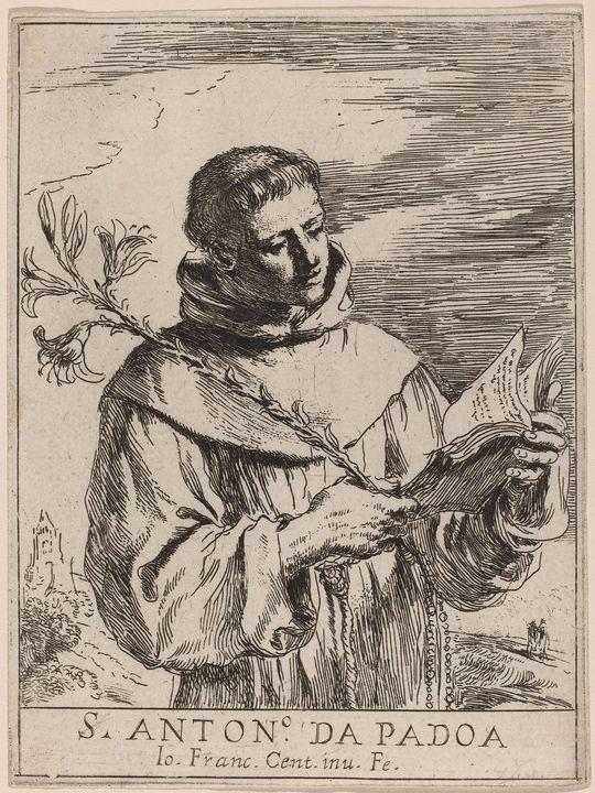 Guercino~Saint Anthony of Padua - Old master