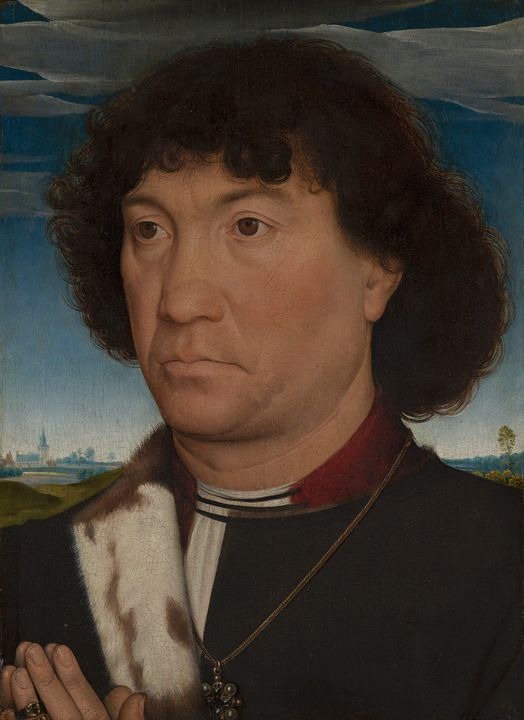 Hans Memling~Portrait of a Man from - Old master