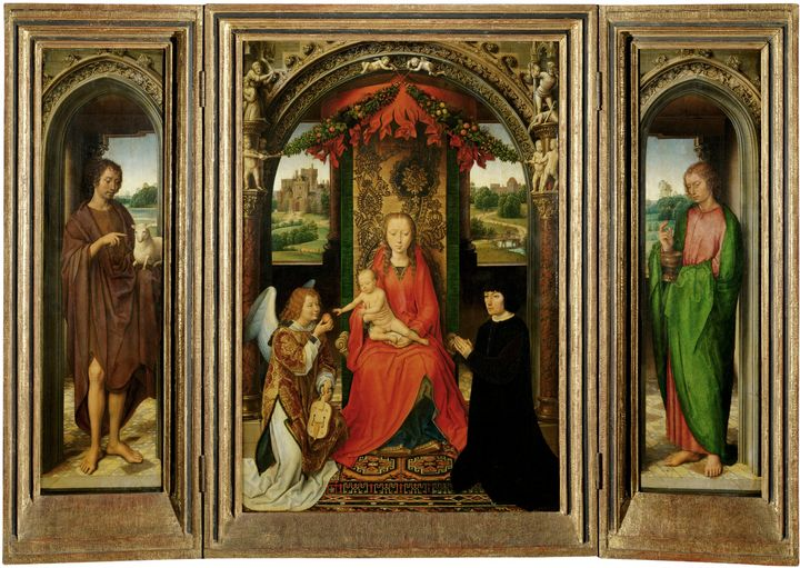 Hans Memling~Small Triptych of St. J - Old master